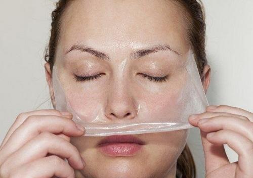 Очищающая маска для лица с желатином