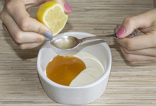 отбеливающая маска с лимоном и перекисью