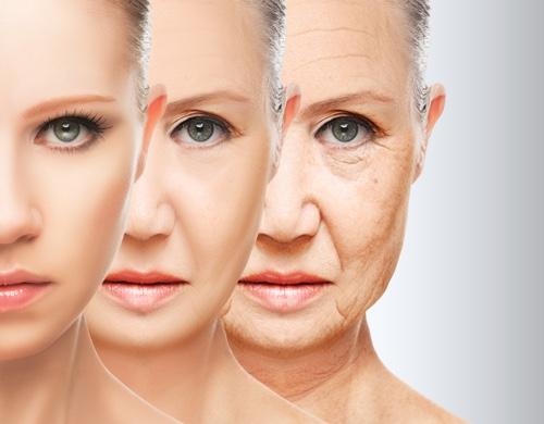 Возрастные морщины на лице