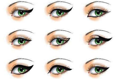Как нарисовать макияж со стрелками