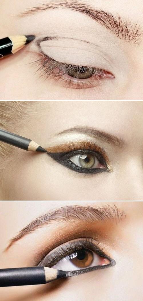 Фото карандашной техники в макияже