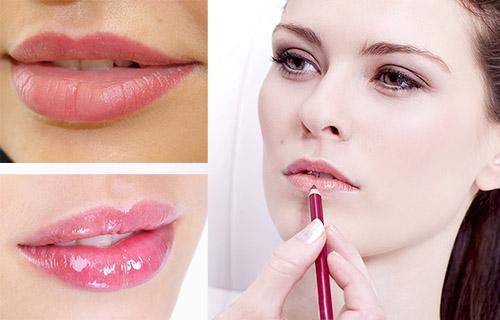 Натуральный макияж губ