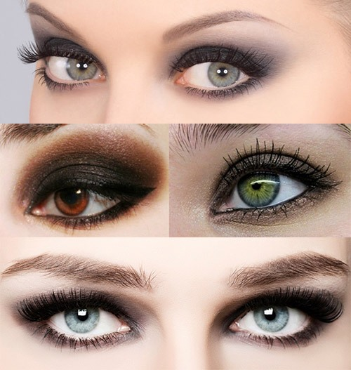 Макияж глаз в технике smoky eyes