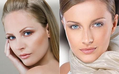 Красивый макияж нюд для голубых глаз