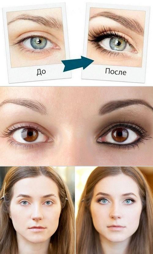 Макияж визуально расширяющий глаза