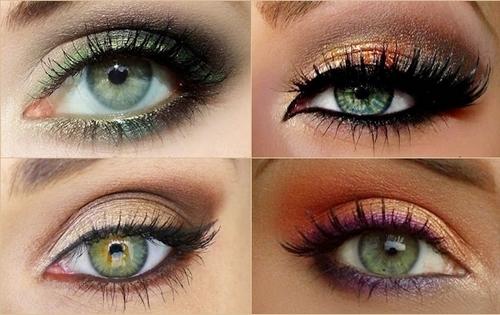 Вечерний макияж для зелёных глаз