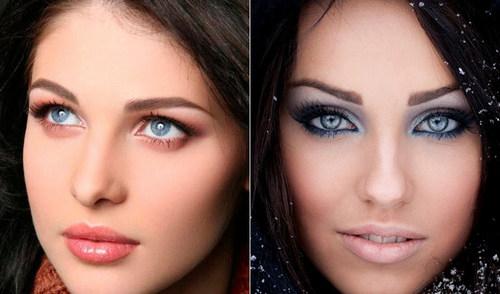 Мейк-ап для брюнеток с голубыми глазами