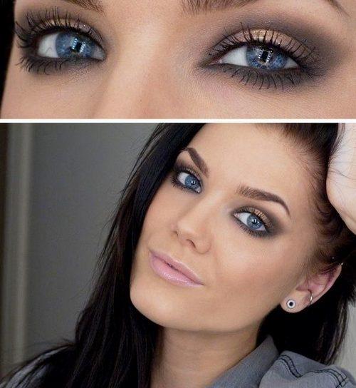 Макияж smoky-eyes для брюнеток