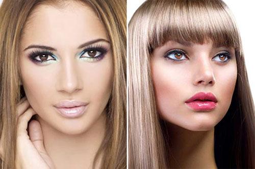 Макияж для русых волос и карих глаз