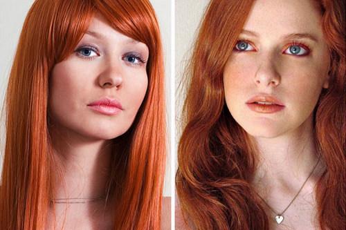 Макияж для серых глаз и рыжих волос