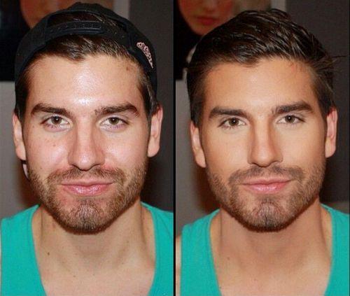 Фото до и после макияжа для мужчин