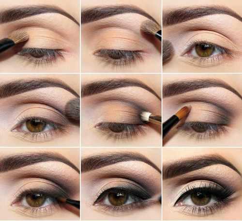 Вечерний макияж для круглых глаз