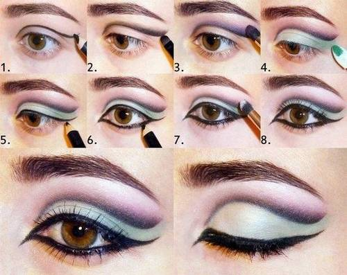 Индийский макияж глаз пошагово
