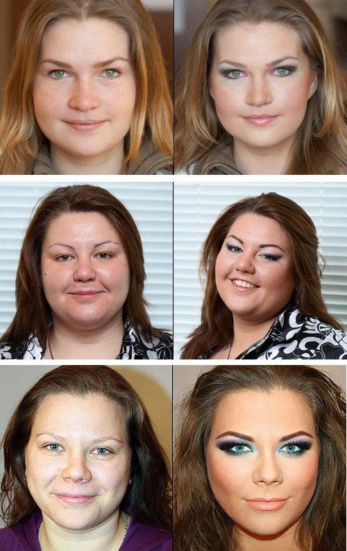 Варианты макияжа для полного лица