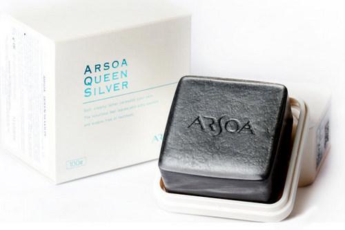 Японское чёрное мыло Silver Queen