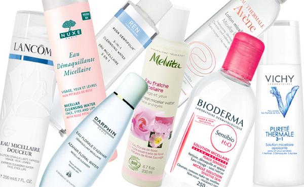 Мицеллярная вода различных брендов