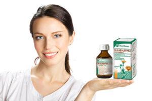 Настойка календулы для лица от прыщей, пигментных пятен, морщин и других косметических дефектов