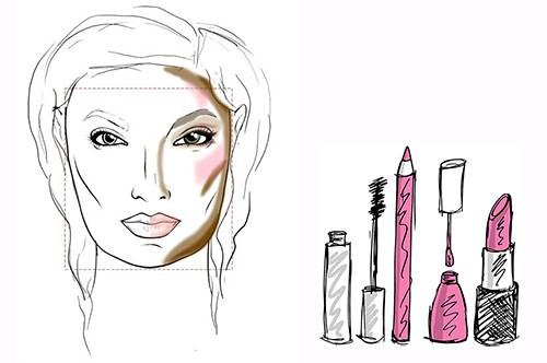 Крупные черты лица макияж