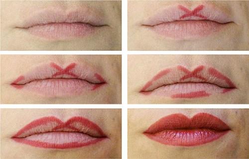Как увеличить губы при помощи макияжа в 2019 году