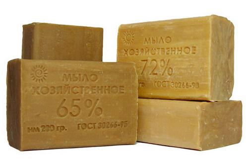 Мыло хозяйственное с содержанием жирных кислот 65% и 72%