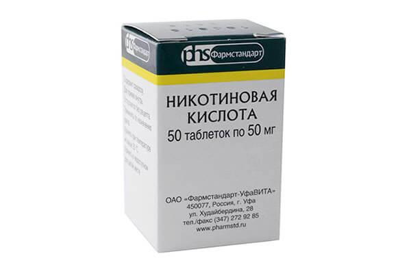 Никотиновая кислота в таблетках от выпадения волос