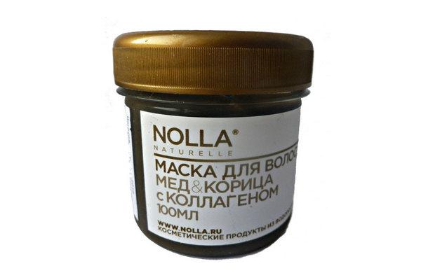 Маска для волос Мёд & корица с коллагеном Nolla Naturelle