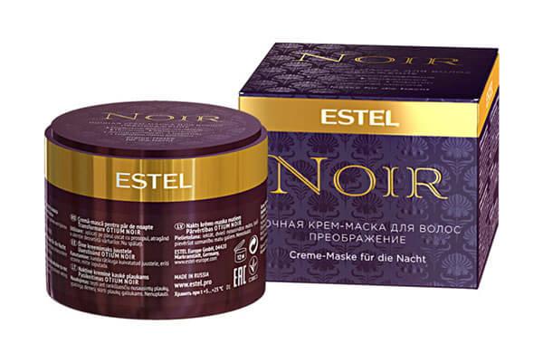 Питательная ночная кремовая маска Estel Noir Преображение
