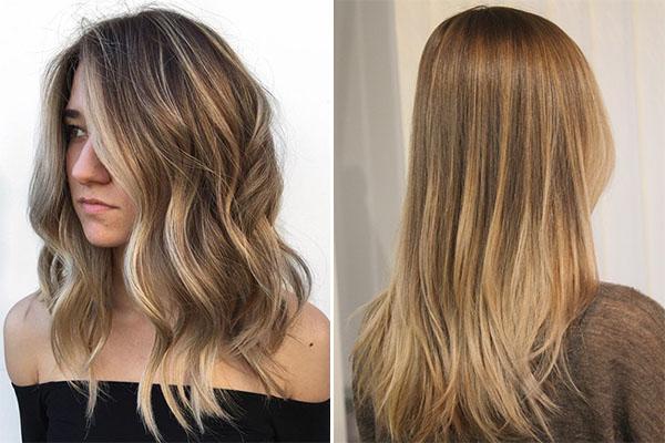 Окрашивание волос в технике Babylights